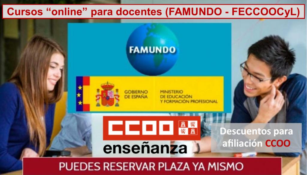 """Cursos """"online"""" para docentes (FAMUNDO - FECCOOCyL)"""